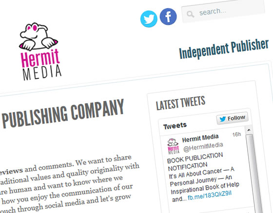 Independent UK Book Publishers, Hermit Media