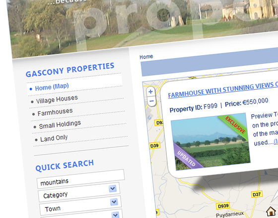 France Property Sales - Gascony